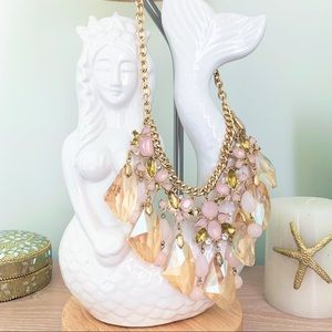 NWT gold & rose/blush Torrid statement necklace